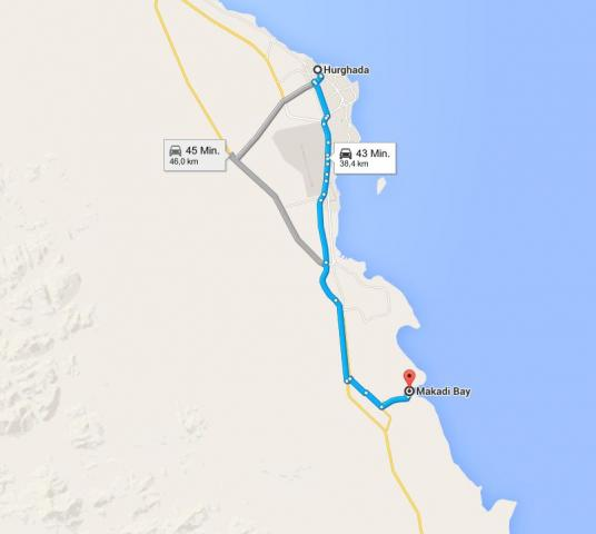 Makadi Bay Karte.Entfernungstabelle Mein ägypten